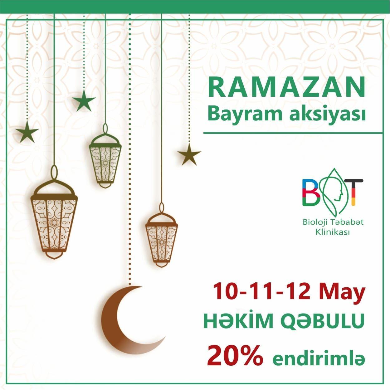 Ramazan bayramına özəl  Həkim qəbulu AKSİYASI