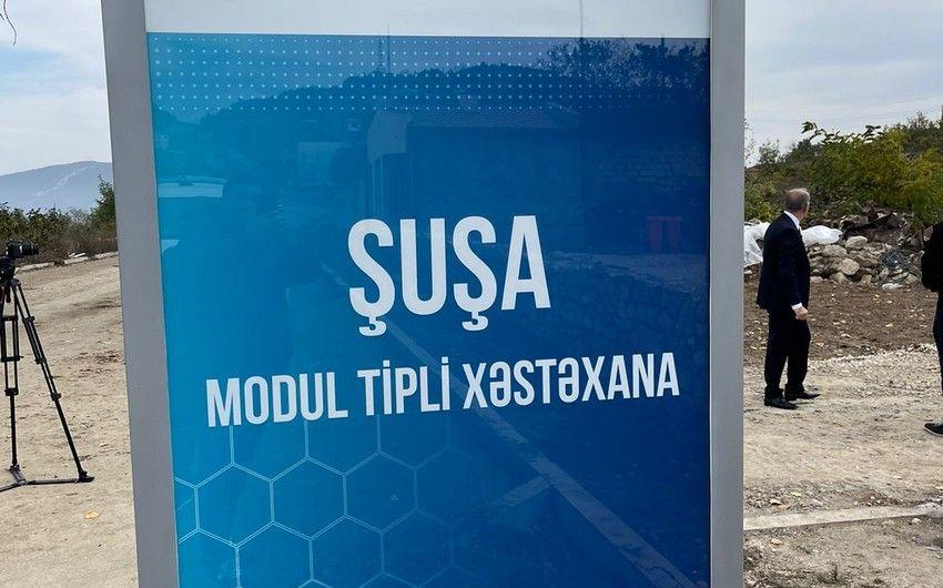 Şuşada ilk modul tipli xəstəxana -  FOTO