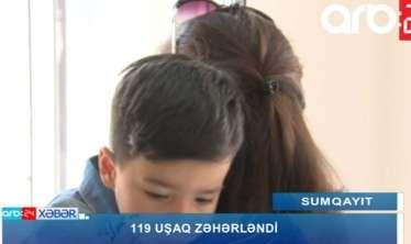 """Sumqayıtda 119 uşağı """"Azərsu"""" zəhərləyib? -  VİDEO"""
