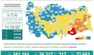 Türkiyədə 217 nəfər koronanın qurbanı oldu